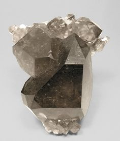 Smoky Quartz with Albite