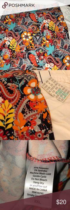 LuLaRoe Casio Skirt 2XL LuLaRoe print Cassie Skirt NWT size 2XL LuLaRoe Skirts Midi