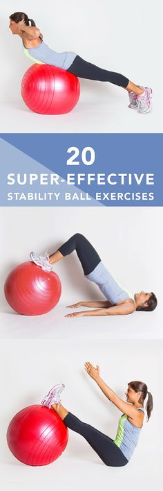 Stability balls (also called exercise balls balance balls Swiss balls or fitness balls) are more than just fun to sit and bounce ontheyre a great way to improve strength cardio endurance and balance fitness motivation Fitness Workouts, Training Fitness, Fitness Diet, Yoga Fitness, Fitness Motivation, Health Fitness, Ball Workouts, Workout Ball, Swimming Workouts