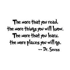 Dr. Seuss quote that represents my college freshmen class! Can't wait for the next few years of my life.