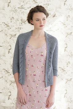 morning glory by pam allen / quince & co kestrel in porpoise