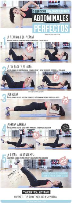weight loss nutrition health tips health and fitness gym workout Rutina para unos abdominales perfectos Ab Workouts, Pilates Workout, Workout Videos, Ab Exercises, Fitness Exercises, Abdominal Exercises, Pop Pilates, Yoga Videos, Ab Workout At Home