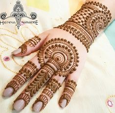 Explore latest Mehndi Designs images in 2019 on Happy Shappy. Mehendi design is also known as the heena design or henna patterns worldwide. We are here with the best mehndi designs images from worldwide. Henna Hand Designs, Mehandi Designs, Mehndi Designs Finger, Mehndi Designs For Girls, Mehndi Designs For Beginners, Mehndi Designs 2018, Mehndi Designs For Fingers, Unique Mehndi Designs, Mehndi Design Pictures