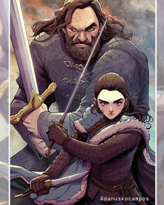 [No Spoilers]Arya Stark and The Hound in Anime Style made by Danusko : gameofthrones Hound Game Of Thrones, Dessin Game Of Thrones, Arte Game Of Thrones, Game Of Thrones Cartoon, Game Of Thrones Artwork, Dark Souls, Sweet Shirt, Game Of Trones, Movies And Series