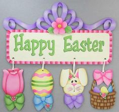 Easter Ornaments and Banner Pattern DOWNLOAD