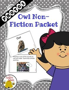 A non-fiction unit packed with owl information and real photos. Perfect for the Autism/ESE class. The packet contains realistic photographs for better understanding of the images. Generalization can be easier when images are realistic.The packet contains the following:Level 1 Book A book with an easier reading level and the key word for the packet is underlined throughout.