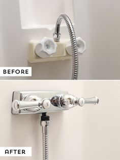 Are you looking for an easy update to do in your RV? Consider upgrading your RV shower faucet, it's an easy project that'll make a world of a difference! via @MtnModernLife