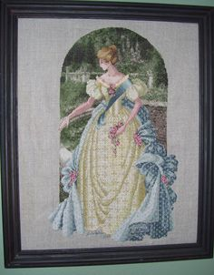 Finished at last! Spent two years on it. It is the biggest I've done, its in a 20 x 16 frame! This is the Queen Anne's Lace cross stitch pattern from the Lavender and Lace series by Marilyn Leavitt-Imblum.