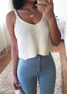 Fashion Knitted Crop Top|Disheefashion
