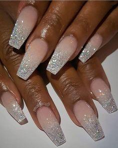 40 Fabulous Ways to Wear Glitter Nails, Looks a Cute Women Part 10; glitter nails; glitter nails acrylic; glitter nails ombre #glitter #glitternails