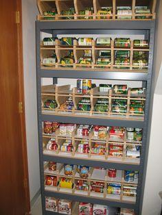 Rotating Food Storage Plans | Canned food storage rack