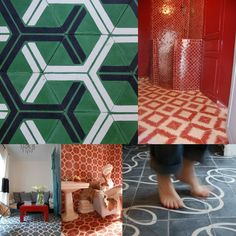 Popham Design Tiles — Flooring -- Better Living Through Design Tile Patterns, Textures Patterns, Tile Design, Pattern Design, Penny Tile, Apartment Renovation, Hexagon Pattern, Flat Ideas, Handmade Tiles
