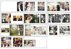 Wedding Album Template - Classic Design 2 - WHCC Album Template - 12x12 and 10x10