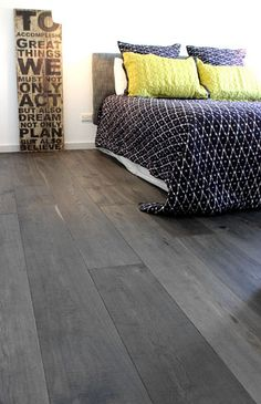 Grey bamboo flooring