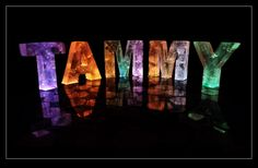 The Name Tammy in 3D coloured lights Christian name Tammy; first name Tammy; personalised with Tammy; Tammy sculpture; Tammy name sculpture; Tammy in 3D; Tammy pop art; Baby name Tammy;