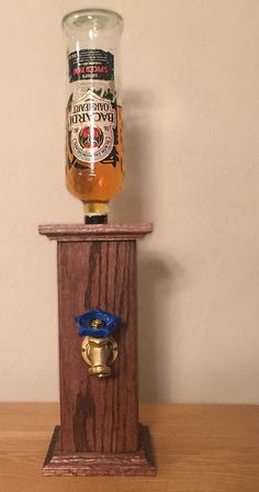 Pedestal Liquor Dispenser by TheShopOfHardKnots on Etsy
