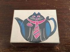 Vintage 1990 Funny Cat Rubber Stamp A Stamp in the Hand Co