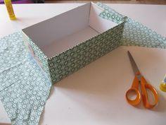 Puede ser igual con papel contac decorado  Forrar cajas con tela / How to cover boxes with fabric