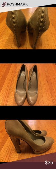 Vince Camuto pumps Distressed studded Vince Camuto pumps. Great condition. Price negotiable. Vince Camuto Shoes
