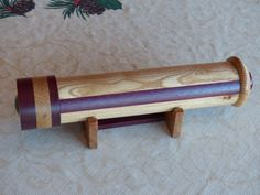 Teleidoscope made from red oak and purpleheart.  Made by Dennis Erhart