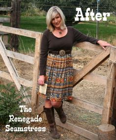 T shirt dress refashion tutorial from The Renegade Seamstress check out all her stuff .the renegade seamstress Diy Clothing, Sewing Clothes, Recycled Clothing, Upcycled Shirts, Create Clothing, Upcycling Clothing, Recycled Fashion, Summer Clothing, Work Clothes