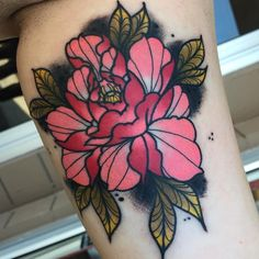 Peony on the inner bicep. Thanks for looking. #kingpintattoosupply #griffinsalve #tattoo #tattoos #flowertattoo #peonytattoo