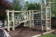 Triple Tower Climbing Frame with a slide attachment