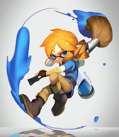 Link from Breath of the Wild as inkling! (Or Linkling?!) : NintendoSwitch