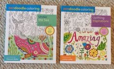 "Lot Of 2 Brand New High Quality Adult Coloring Books; 1 ""You are Amazing"" themed (quotable sayings with floral, paisley and geometric accents), , and  1 ""Under the Sea"" themed (with fish, octopus, turtles, seashells, mermaids, dolphins, sea horses, treasure chests, etc).  American Made ! Both books printed in the U.S.A ! All books are a bit heavier than the average similar product; paper has a nice weight and tooth."