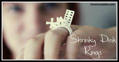 DIY Shrink Plastic 3D Ring Tutorial Diy Shrink Plastic, Ring Tutorial, Shrinky Dinks, Diy Rings, Lets Play, Diy Fashion, Personalized Gifts, Let It Be, 3d