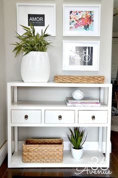 Home Decor - Entryway and Free Printables