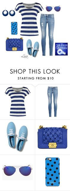 """Go Blue"" by coolmommy44 ❤ liked on Polyvore featuring TWINTIP, STELLA McCARTNEY, Keds, Chanel, Isaac Mizrahi, Croft & Barrow, autismawareness, LIGHTITUPBLUE and autismspeaks"