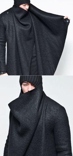 XXl Century. The Future is Now! GuyLook - Avant-garde Unbalance Turtle Drape-Coat