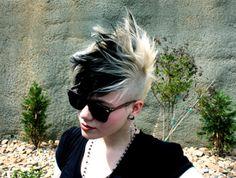 hairstyle, hair, hair color, black hair, blonde hair, mohawk