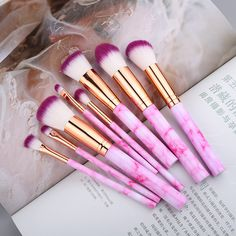 10 Pcs/ 8 Pcs professional makeup brush Set ® - The Effective Pictures We Offer You About Skincare organization A quality picture can tell you man - Affordable Makeup Brushes, Best Makeup Brushes, Best Makeup Products, Make Makeup, Makeup Storage, Makeup Brush Set, Professionelles Make Up, Make Up Looks, Design Set