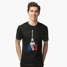 'take me back to paris' Tri-blend T-Shirt by mikenotis Vintage Looks, Soft Fabrics, Shirt Designs, Paris, Printed, Awesome, Mens Tops, T Shirt, Shopping