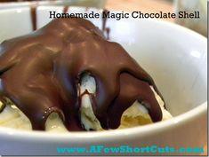 Homemade Magic Chocolate Shell  http://afewshortcuts.com/2012/02/tide-you-over-tuesday-homemade-magic-chocolate-shell/
