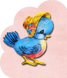 Bluebird. Free pretty things for you !