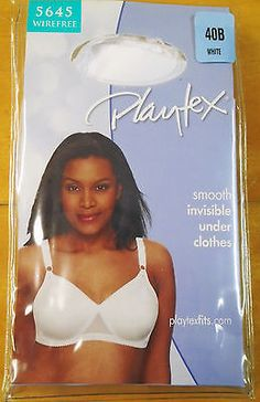 NWT Just My Size Super Sleek Front Close Wirefree Bra 46D White ...