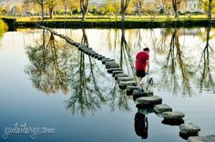 stepping stone bridge in Chaves, Vila Real, Portugal The Beautiful Country, Beautiful Places, Vila Real Portugal, Learn Brazilian Portuguese, Backyard Playground, Over The River, Bucket List Destinations, Stepping Stones, Bridge