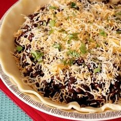 Black bean pie is a quick, delicious vegetarian meal option! Perfect for easy weeknight dinners!