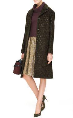 Irina Crystal-Embellished Wool Coat by No. 21 - Moda Operandi