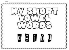 short vowel review - perfect for what we are working on right now!