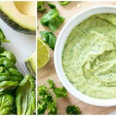 Kremowo-ostry zielony sos, który doskonale uzupełni Twoje dania [zdrowy przepis] Food Design, Guacamole, Food And Drink, Menu, Mexican, Treats, Cooking, Healthy, Ethnic Recipes