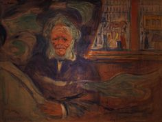 Henrik Ibsen at the Grand Cafe, Edvard Munch, 1909-10