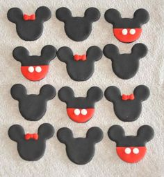 Fondant cupcake or cookie toppers -- So cute!