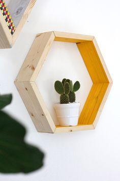 DIY Hexagon Shape Shelves | I SPY DIY