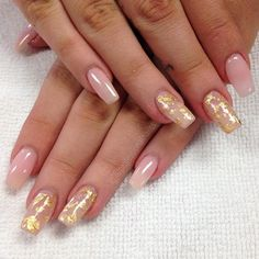 """""""Goodness gracious gold flakes... Oh wait. They're gold leaves.. What a relief, they're not flakes. #icantbeleiveitsnotflakes"""" Photo taken by @professionalnailss on Instagram, pinned via the InstaPin iOS App! http://www.instapinapp.com (03/11/2016)"""