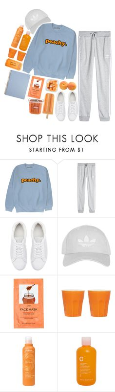"""out jogging"" by thailibarrios-1 ❤ liked on Polyvore featuring adidas Originals, Witchery, Topshop, H&M, Aveda, Modern Organic Products, sport, sporty and workout"