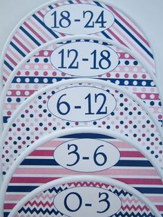 Custom Baby Closet Dividers Girls Pink and Navy Closet Organiners Baby Shower Gift  Baby Closet Dividers Organizers Assembled For You on Etsy, $15.00